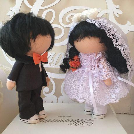 и куклы свадьба ручная жених работа интерьерные невеста
