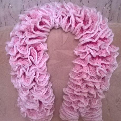 шарф вязание спицами