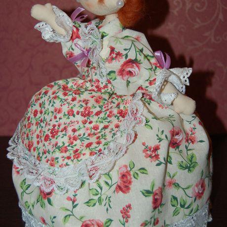 игрушка интерьера украшение кукла ручная работа на чайник грелка текстильная подарок