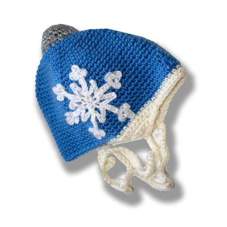и голубая новогодняя милая оригинальная связанное 2016 елочный снежинка новый шапка аксессуары ручная шар детские детям шляпы шапки продажа купить шапочка работа крючком год подарок