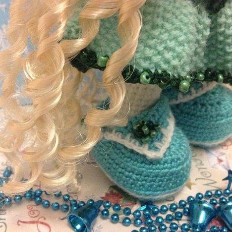 кукла ручная вязание интерьер работа крючком подарок