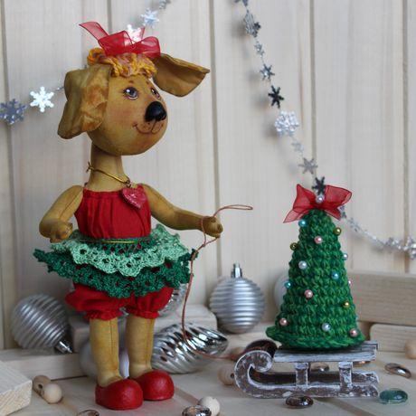 коллекционная новый девушке год съемной подруге одежде кукла текстильная оригинальный подарок