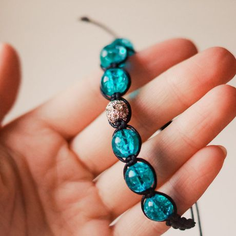 шамбала украшения браслет бижутерия голубой
