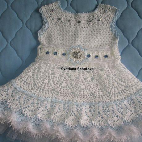 одежда вязание комплект платье корона митенки девочки костюм праздник болеро крючком карнавальный ручнаяработа