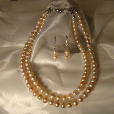 двоиноеколье pearlearrings розовыижемчуг pearl кольеизжемчуга pearlnacklace жемчуг натуральныйжемчуг