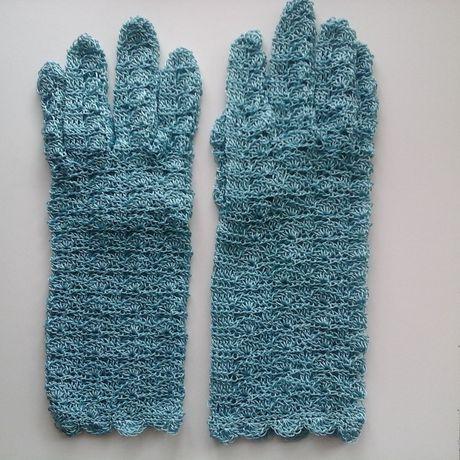 handmade ручная вязание перчатки работа крючком