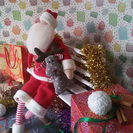 игрушка кукла новый санта рождество год олень подарок