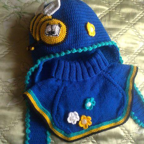 пчелка зима шапка манишка