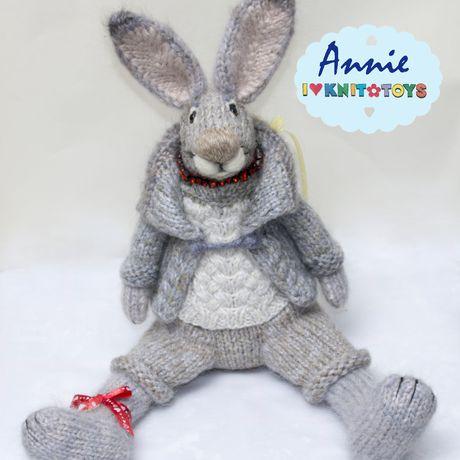 игрушка новый_год сувенир зайка рождество зайчик подарок вязаный_зайчик