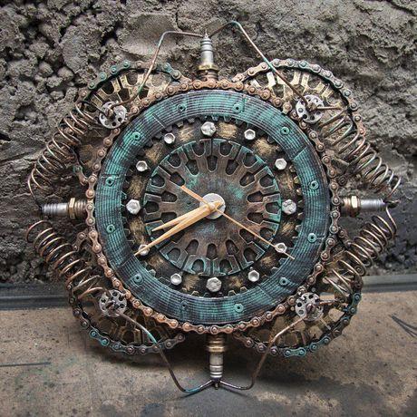 купить металла настенные часы металлические необычные
