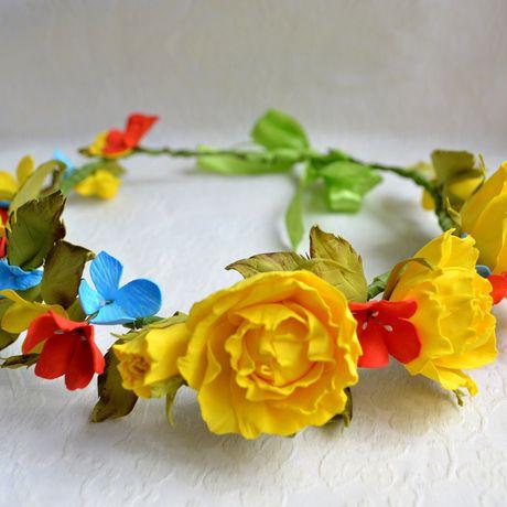 голову прическу фотосессия. украшение фоамиран праздник в розы на венок цветы