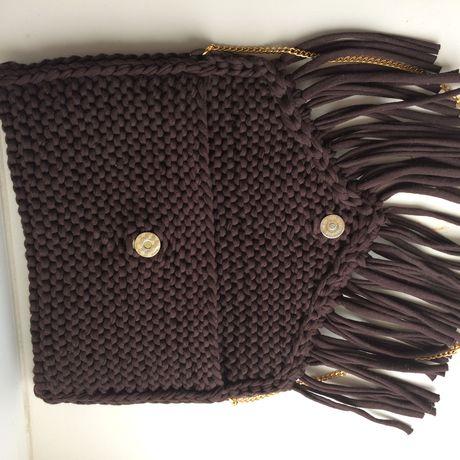 спицами изтрикотажнойпряжиhandmadriziinikaвязанаясумка сумки