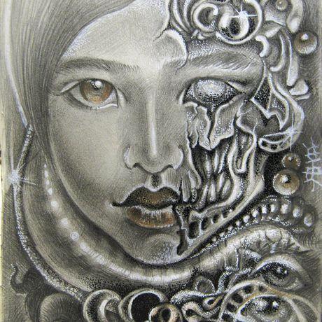портрет рисунок девушка картина подарок