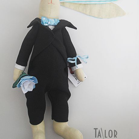подарокдевушке заяц джентельмен фрак тильда подарок