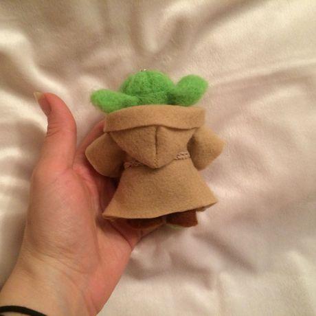игрушка шерсти йода брелок валенна