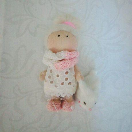 куколкавналичии слюбовью текстильнаякукла кукла ручнаяработа интерьернаякукла
