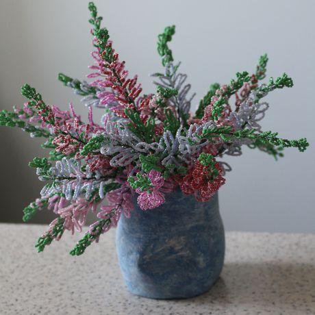 интерьере деревья работа бисер цветы ручна