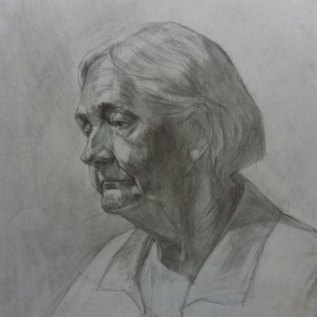 карандаш светотень графика портрет рисунок искусство