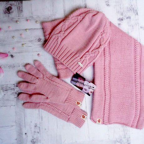 одежда шарф вязание комплект назаказ спицами шапка перчатки стиль длядевушек дляженщин мода