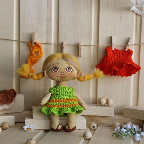 работы ручной съемной одежде игровая кукла текстильная оригинальный подарок