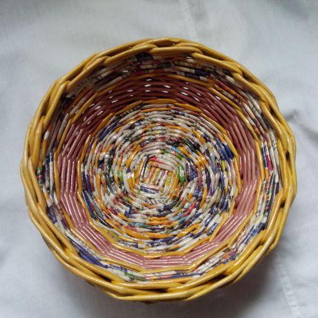 лоза и подарки газетная изделия тарелки газетных декоративная дома посуда для блюда трубочек оригинальные кухня утварь интерьер из бумажные кухонная плетеные