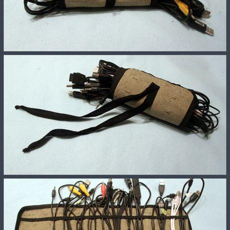 вышивкой проводов органайзер наушников для с