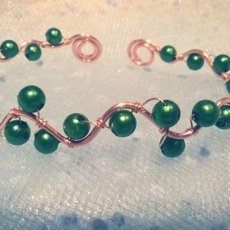 браслет handmade хэндмейд бижутерия ручнаяработа украшенияручнойработы украшенияизпроволоки wirewrap браслетизпроволоки медныйбраслет