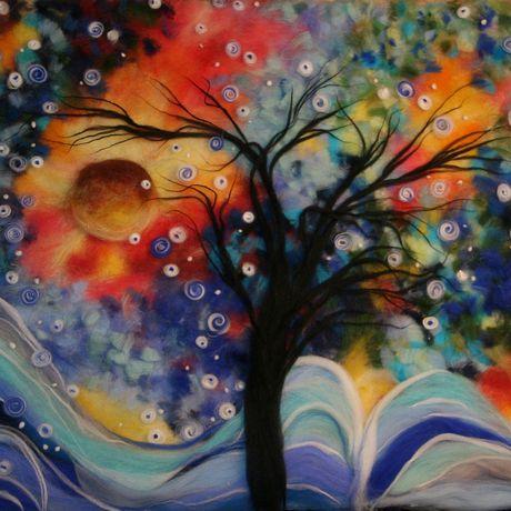 теплые шерстьяркие шерстяная шерсти дерево картины ручная из живопись работа картина