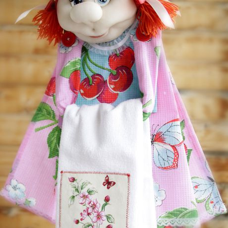 кукла ручная скульптурный текстиль кухня из капрона работа