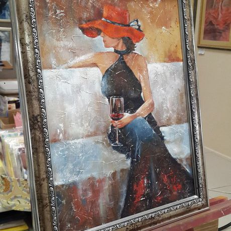 образ маслом современное подарки картины искусство женский