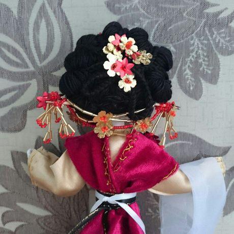 китай красныйизолотой веер текстильнаякукла кукла