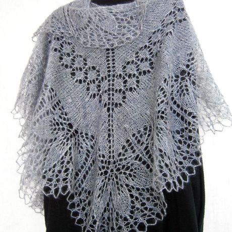 шальвязаная вязаная аксессуар шарф вязание мохер палантин ажурная шаль свадьба ажурнаяшаль платок шерсть бохо подарок