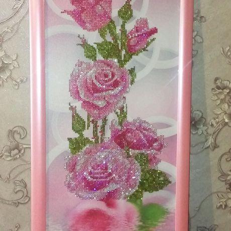 пано розы стразы картина подарок для_дома