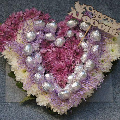 букет сердце конфеты любовь
