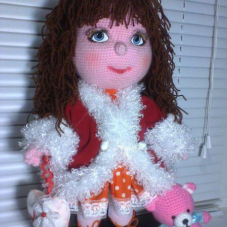 вязанаякукла идеяподарка кукла рукоделие вязание