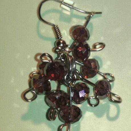 букетвинограда бусины серьги handmade