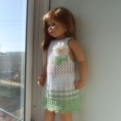 детский вязание летний крючком детская сарафан мода