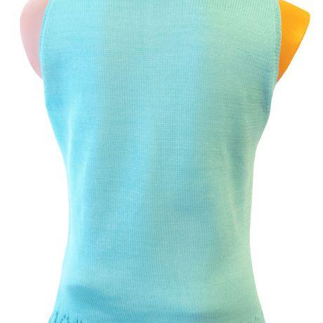 летняя однотонный ажурная хлопка вязаная туника авторский бирюзовый из дизайн