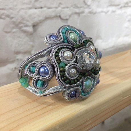 сутаж жемчуг винтаж бижутерия бусины украшение браслет подарок