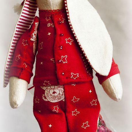аромат кролик саше пижама лаванда тильда ручная сувенир животные интерьер заяц шитье игра работа сон руками ночь красный своими подарок