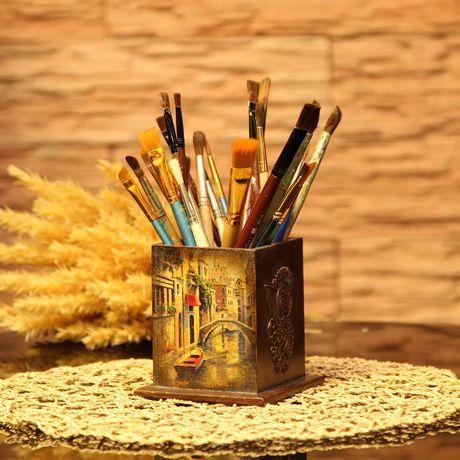 венеция декупаж карандашница винтаж