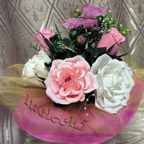 букет конфеты цветы подарок