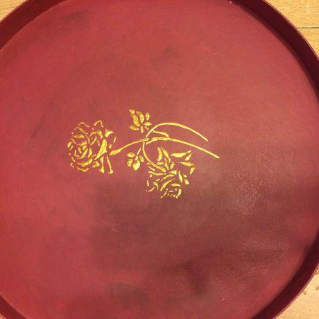 акриловый декупаж краски круглая акриловые коробка текстиль рисовая короб бумага лак