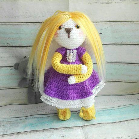 лучшийподарок куколка купитьигрушку игрушка зайка кукла зайкасволосами подарокдевушке заяц авторская вязаныйзаяц малышка зайкабум красотка зайкаводежде подарок