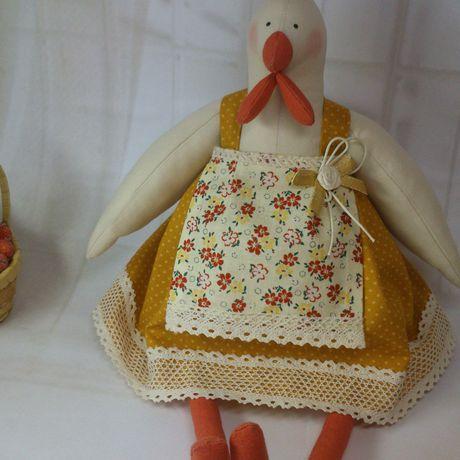 кукла тильда интерьерная курочка курица петушок текстильная петух