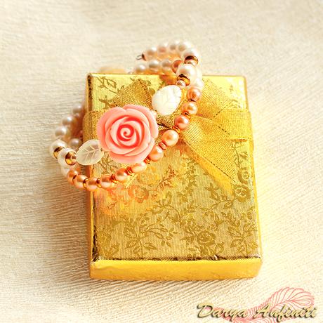 bracelet леска перламутр браслет хэндмейд розочка цветы жемчуг