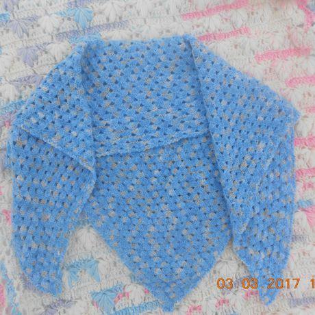 одежда женский шаль голубой платк бакту шейтый подарок