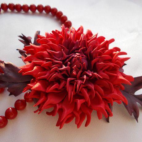 фоамирана фоамиран аксессуар фом брошь хризантема цветок украшения цветы
