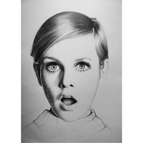 одрихепберн карандаш портрет