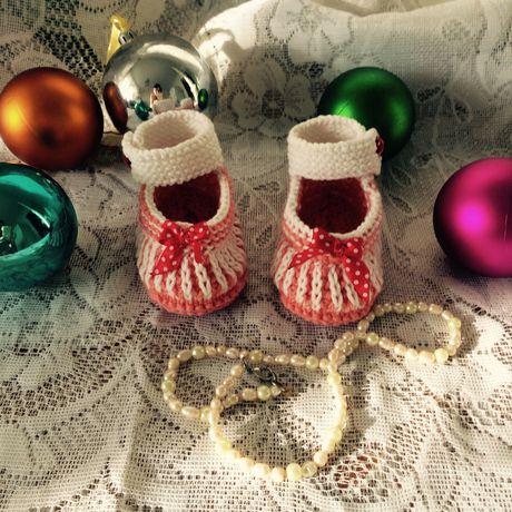 для вязание детям новорожденных пинетки хендмеейд